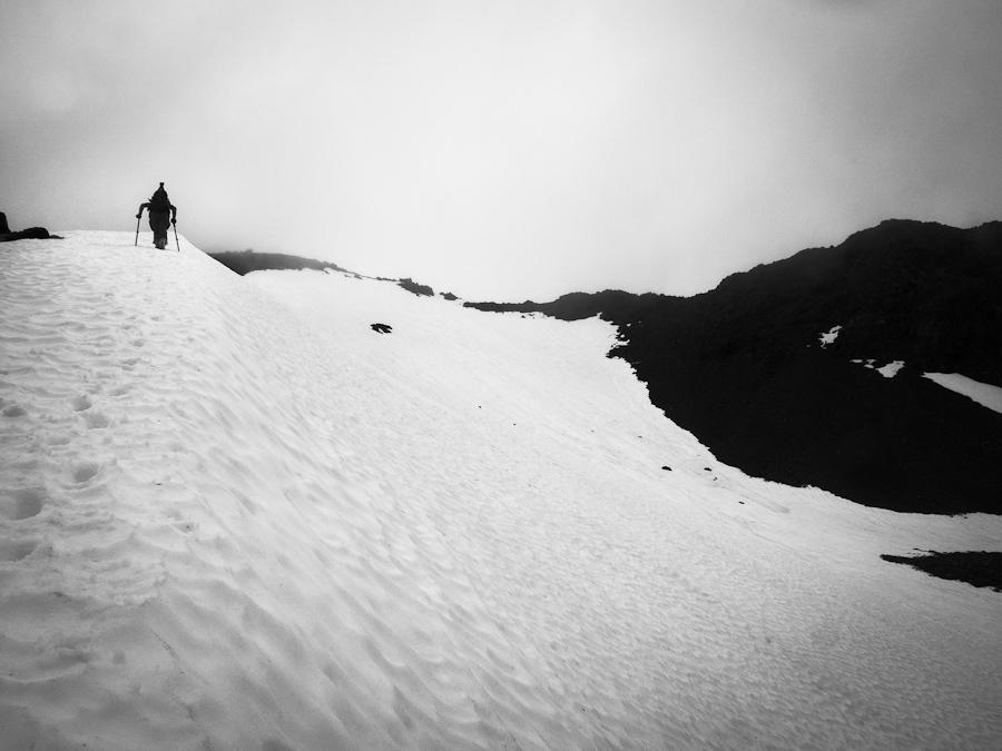 Climbing to Ingalls Pass