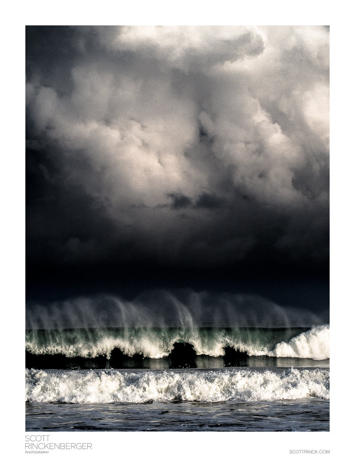 Storm Clouds and Waves