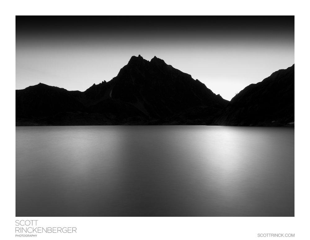 Mount Stuart silhouette