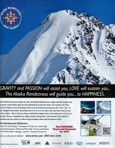 Alaska Rendezvous Ad in Powder Magazine