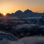 Sunrise over Cascade Pass - Scott Rinckenberger