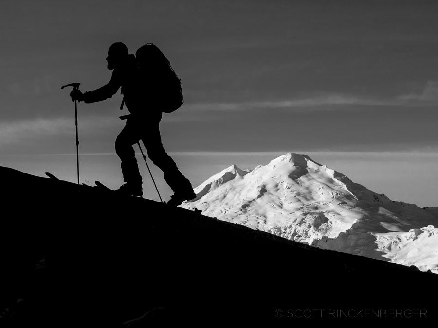 Mount Baker Silhouette