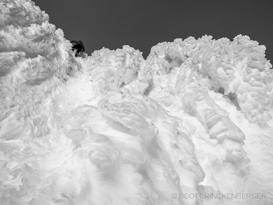 Matt below the Mount Shuksan Summit