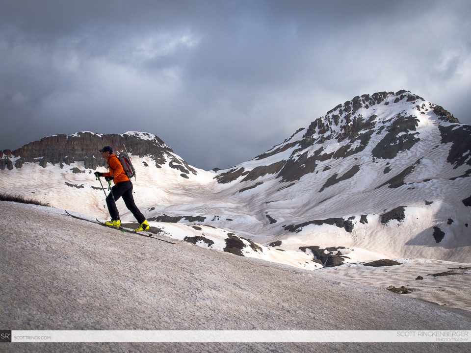 Chris Davenport Climbing the slopes below Vermillion Peak