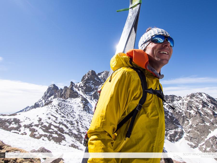 Chris Davenport below Kit Carson Peak