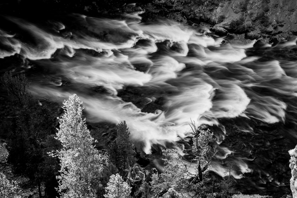 Rapids in Grand Canyon of Yellowstone, Wyoming