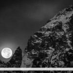 Full Moon and the Grand Teton, Grand Teton NP, Wyoming