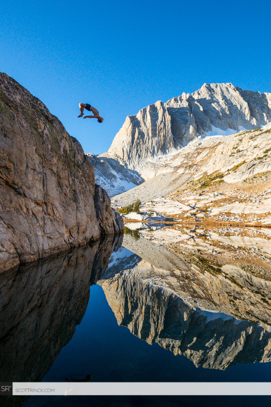 Hayden Teachout Backflip into Steelhead Lake, California