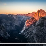 Sunset on Half Dome, Yosemite NP, California