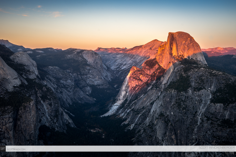 Sunset on Half Dome, Yosemite NP, California