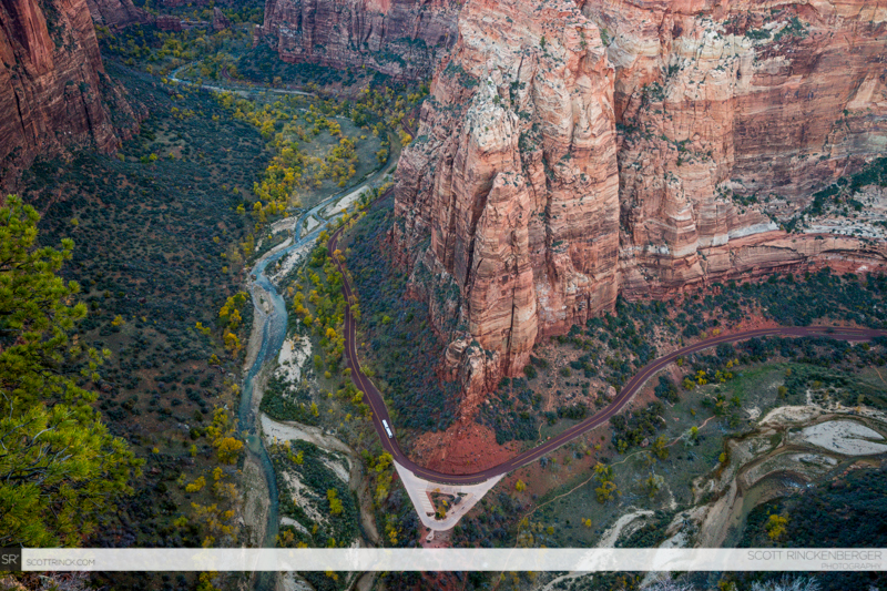Zion Canyon from Angels Landing, Zion NP, Utah
