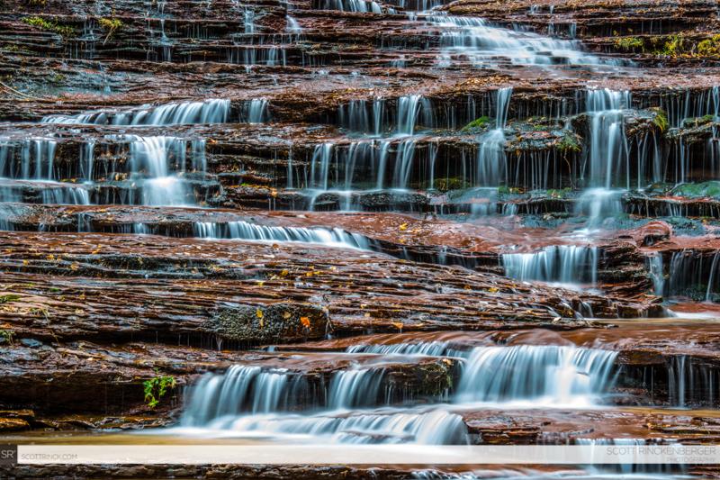 Terraced Waterfall on Subway Hike, Zion NP, Utah