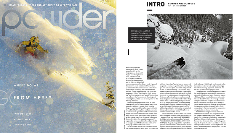 Powder Magazine Intro Dec 2013 - Scott Rinckenberger