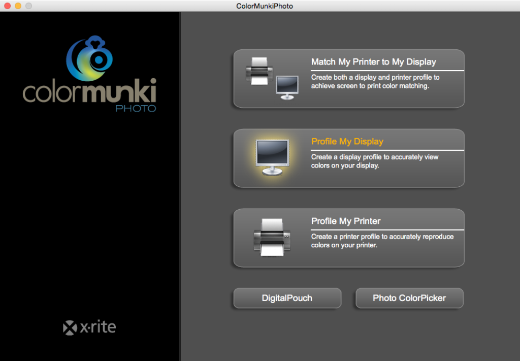launching color munki software - X Rite Colormunki Photo Color Management Solution