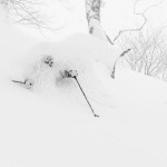 Sierra Quitiquit gets amongst it in a Hakuba forest